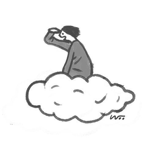 [오후 한 詩]구름은 아래에/김개미