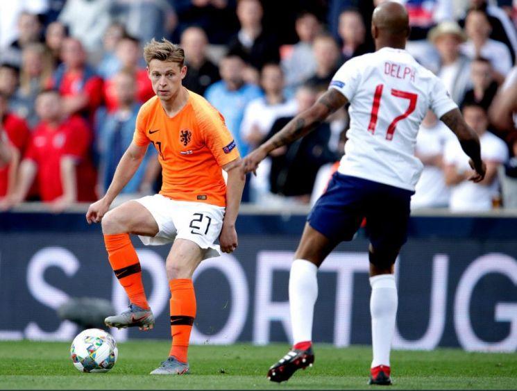 잉글랜드는 7일(한국시간) 포르투갈 기마랑이스 에스타디오 아폰소 엔리케에서 열린 네덜란드와의 2018-2019 유럽축구연맹(UEFA) 네이션스리그 그룹A 4강전에서 3-1로 패배했다./사진= UEFA 네이션스리그 SNS 캡처