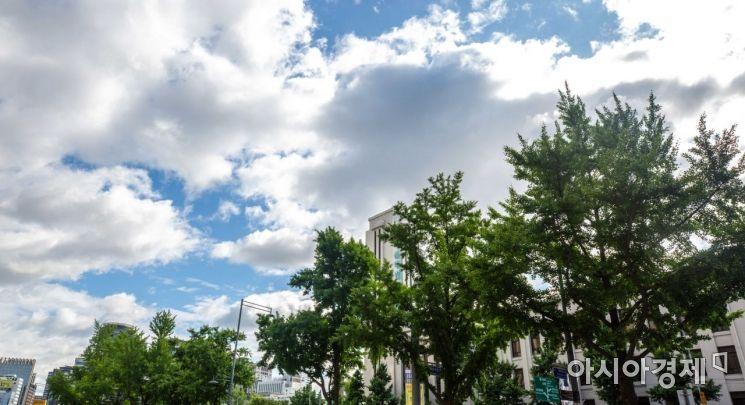 [포토]파란하늘 등장한 도심