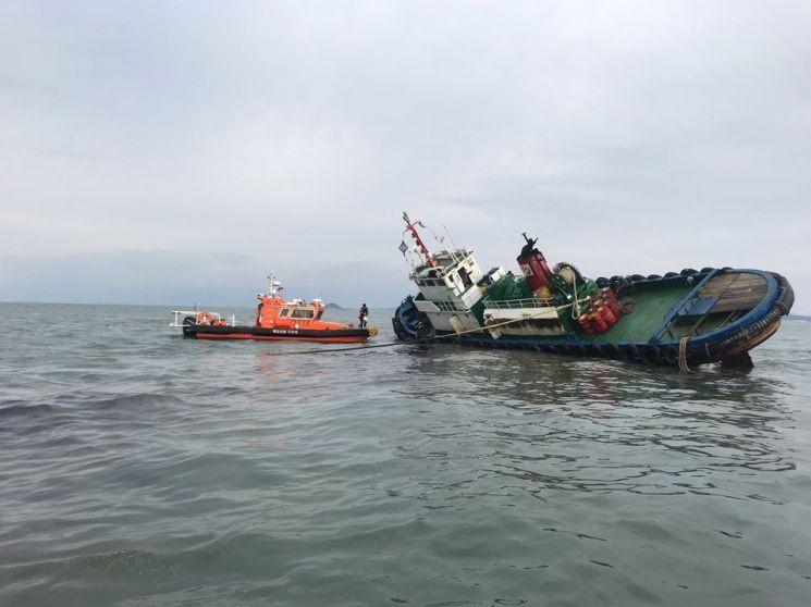 53t급 예인선 침몰 [사진=해양경찰청]