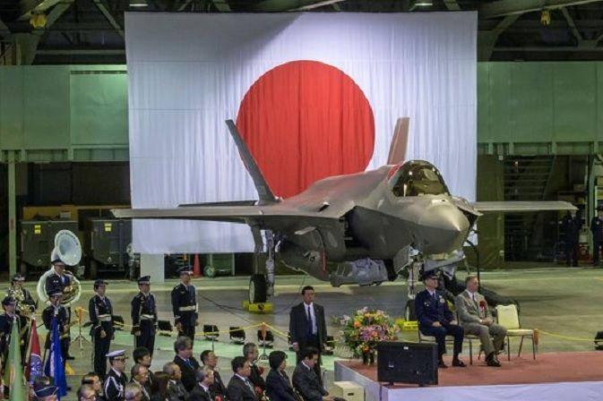 지난해 2월 일본 아오모리현 미사와기지에서 열린 F-35A 전력화 행사 모습(사진=로이터연합뉴스)