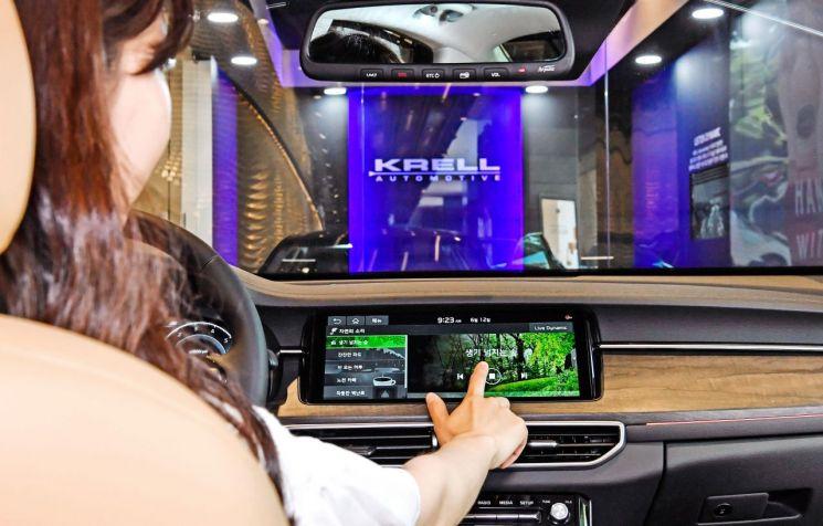 기아차 K7 프리미어에 탑재된 프리미엄 사운드 시스템 크렐.(사진=현대모비스)