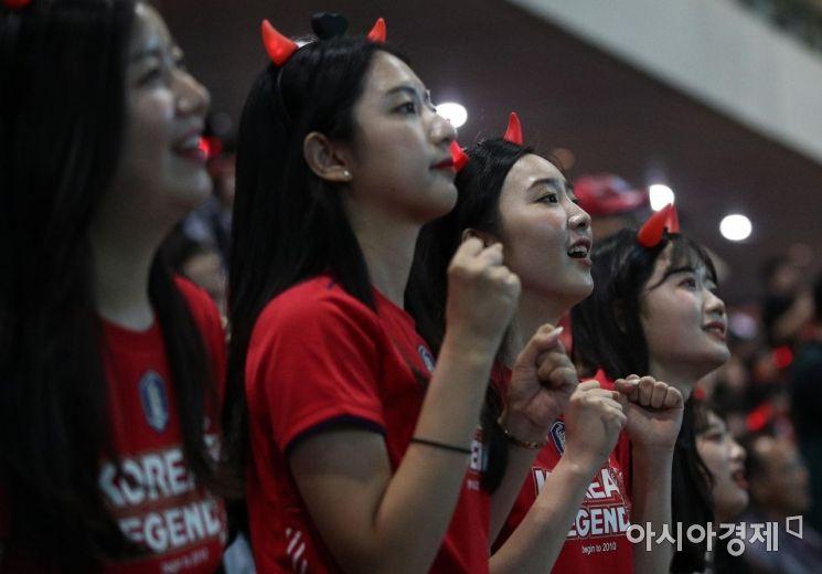 [포토] 응원하는 붉은 악마