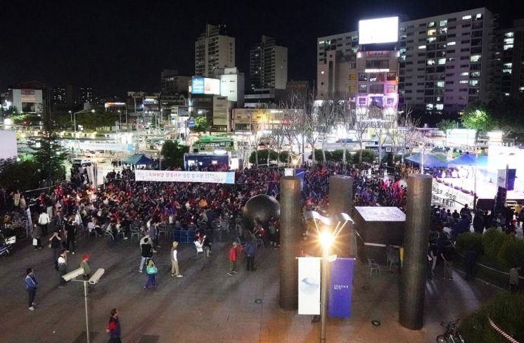 [포토] 청량리역 광장 U20 월드컵 응원 열기 후끈