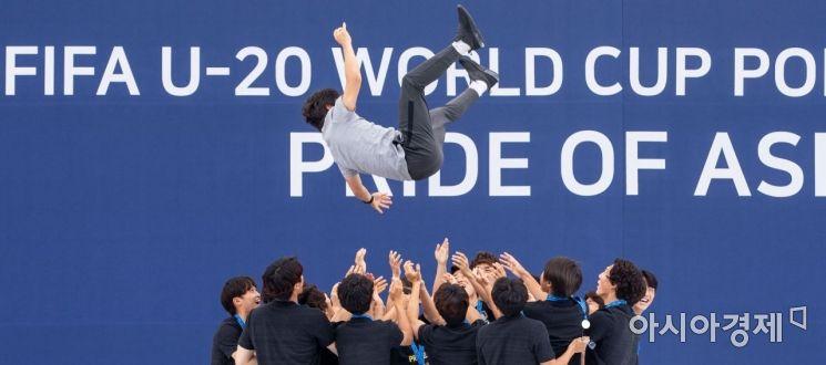[포토] U-20 월드컵 대표팀, '캡틴 마이 캡틴'