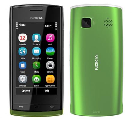 노키아 자체 OS 심비안이 탑재된 노키아500