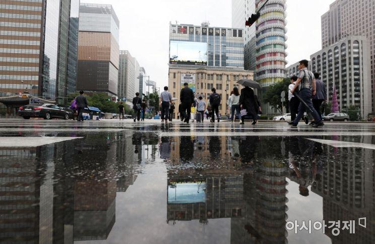 [포토]고인 빗물은 작은 거울