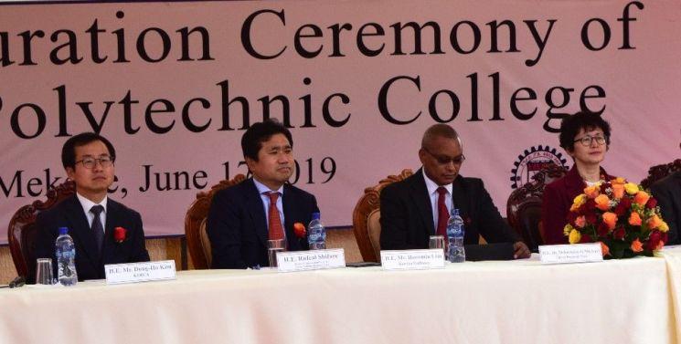 코이카는 17일 오전 에티오피아 북부 티그라이주(州)에서 기술대학교 준공식을 개최했다. 좌측부터 김동호 코이카 에티오피아 사무소장, 임훈민 주에티오피아대사, 데브라치온 티그라이 주지사, 백숙희 코이카 아프리카중동·중남미본부 이사.