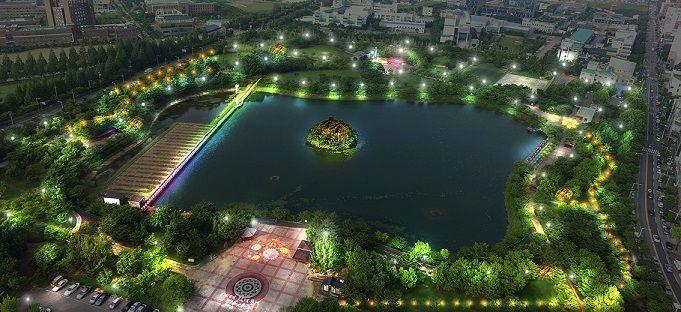 광주 광산구 '쌍암공원' 밤이 더 아름답게 개선한다