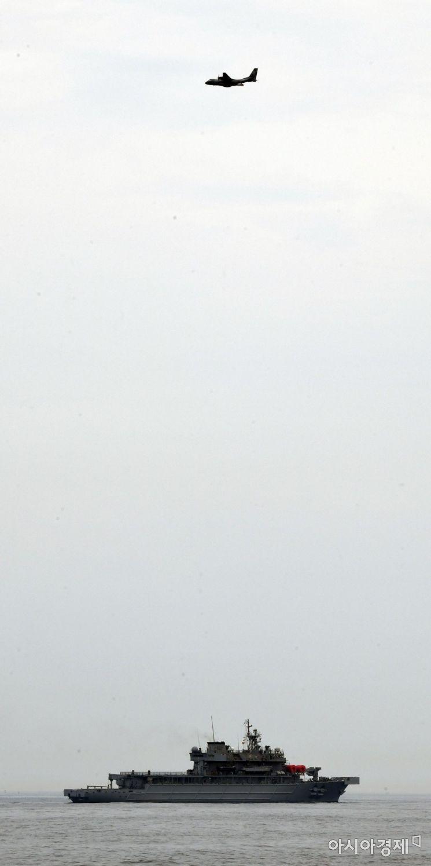 [포토] 해상 조난자 탐색구조훈련 투입된 광양함