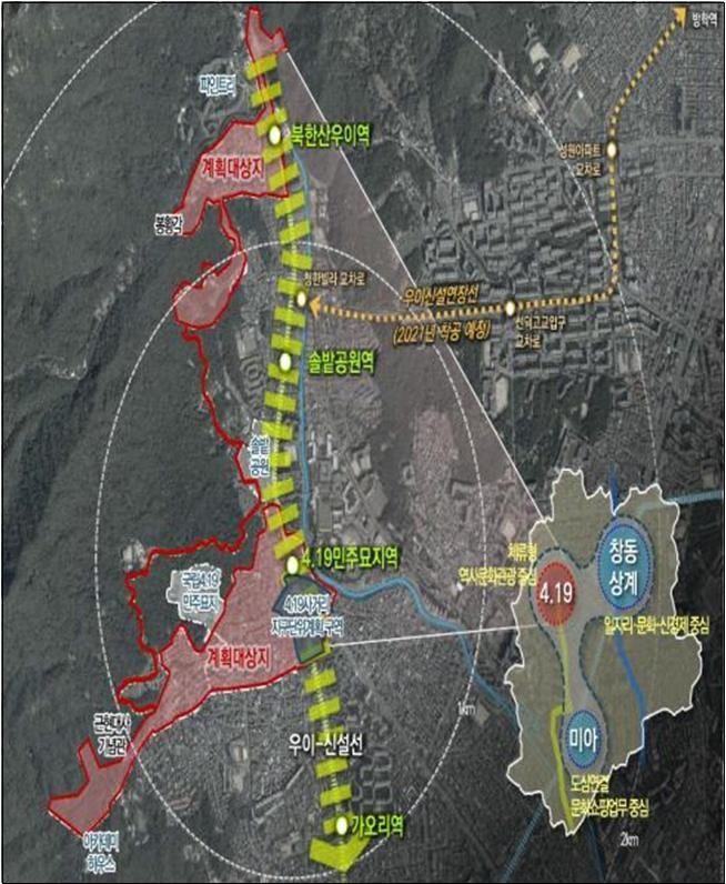 서울시, 4.19사거리 일대 약 63만㎡ 도시재생 본격화
