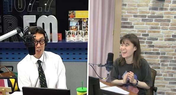 개그맨 박지선이 '김영철의 파워 FM'에 출연해 동료 신보라의 결혼 소식을 전했다./사진=라디오 방송 캡쳐