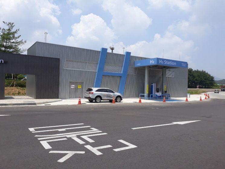 도로공사 광주전남, 21일부터 백양사 휴게소에 '수소충전소' 운영