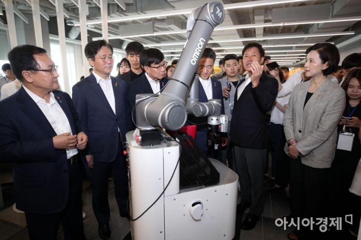 [포토] 5G 스마트오피스 방문한 장관들