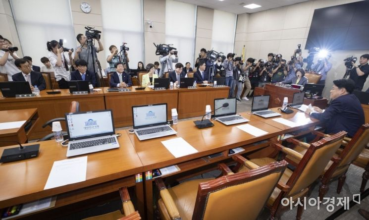 [포토] 한국당은 아직도 국회 '보이콧'중