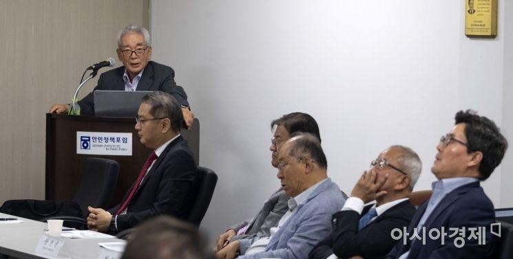 [포토] 강연하는 진념 전 경제부총리