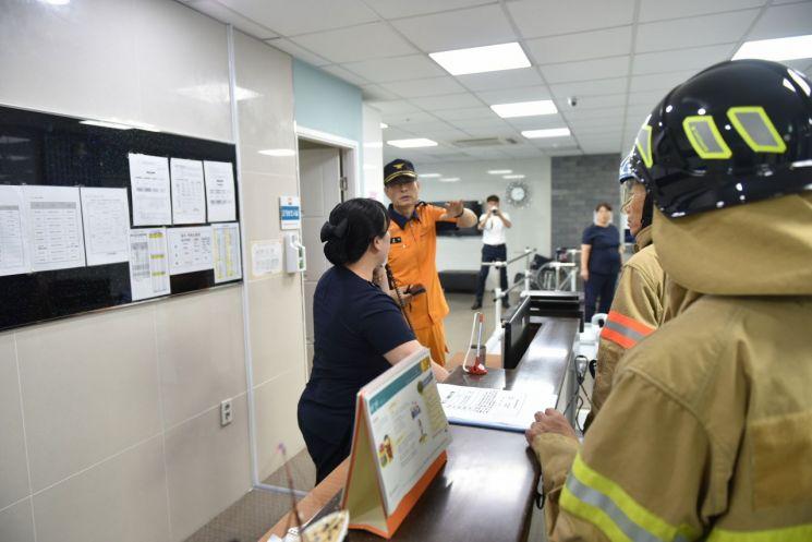 광주 서부소방서, 서광요양병원 합동소방훈련