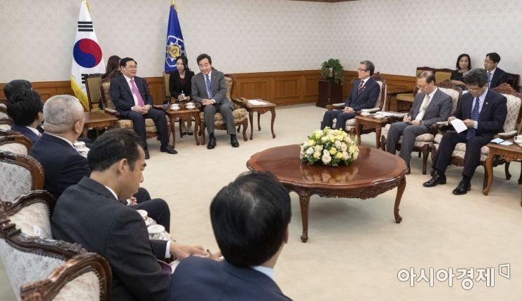 [포토] 이낙연 총리 만나는 베트남 경제부총리