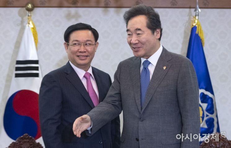 [포토] 베트남 경제부총리 만나는 이낙연 총리