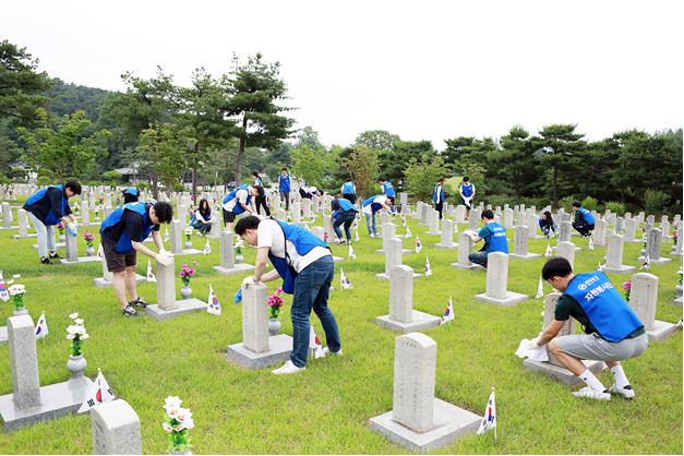 한진, 호국보훈의 달 맞아 국립현충원서 봉사활동
