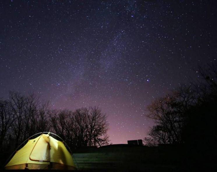 국제 밤하늘 보호공원에서 촬영한 밤하늘의 별빛. [사진=양양군 생태공원사업소 홈페이지]
