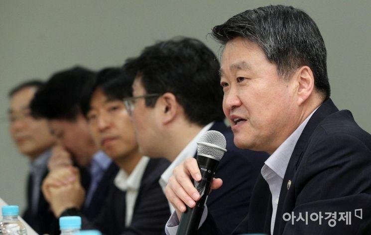 [포토] 인사말하는 김학도 중기부 차관