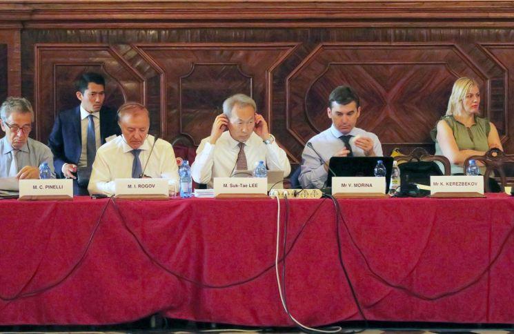 이석태 헌법재판관이 이탈리아 베니스에서 열린 베니스위원회제119차 정기총회에 참석했다 [사진=헌법재판소 제공]