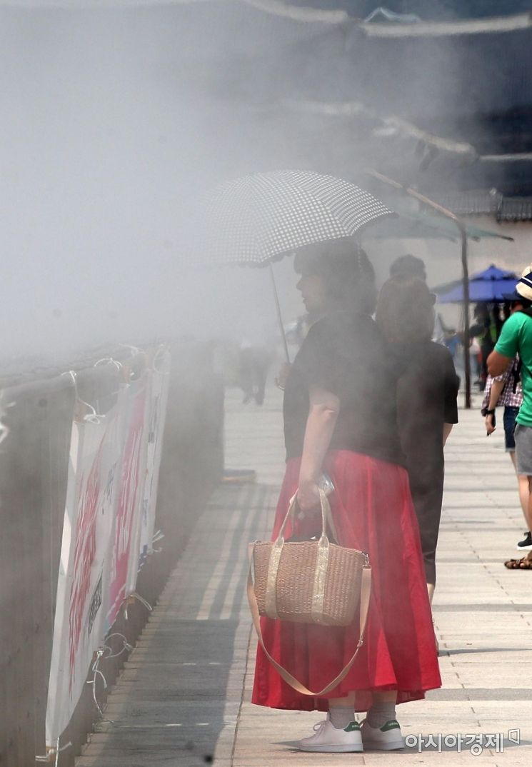 [포토] 시원함에 발길 멈춘 관광객