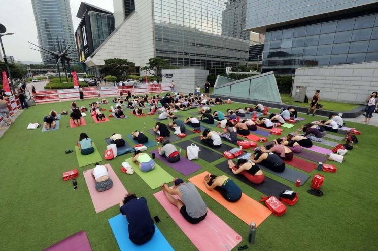 강남구 '세계 요가의 날' 맞아 요가 이벤트 개최