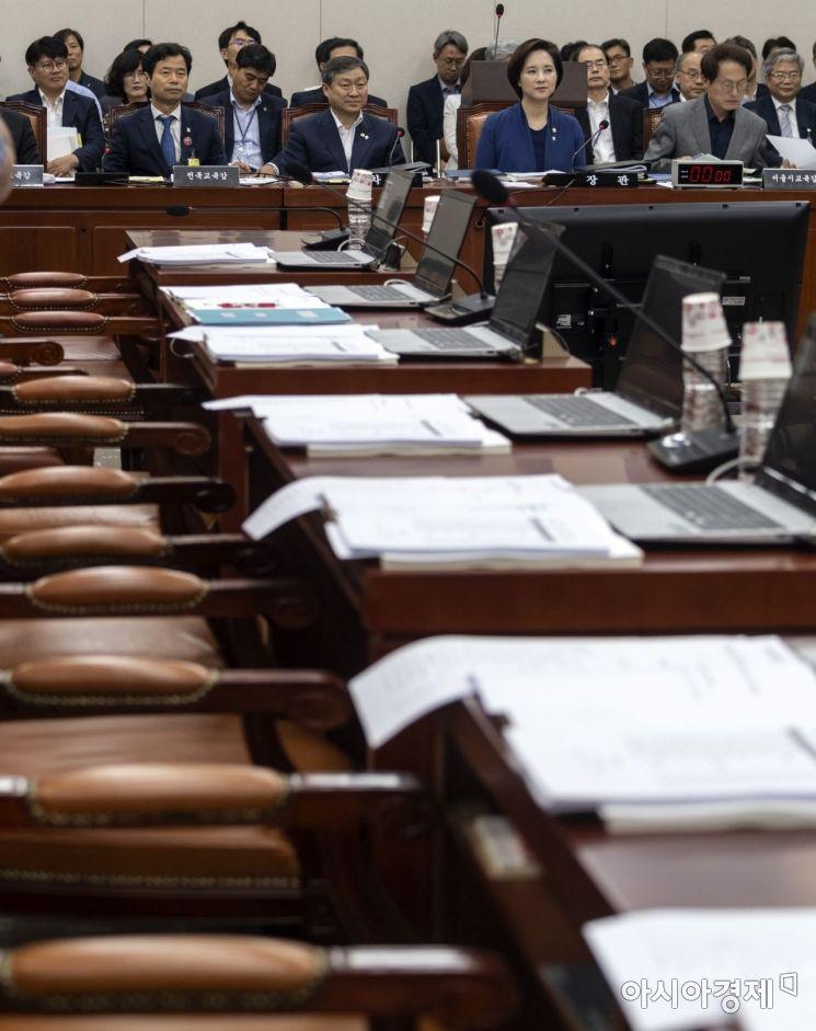 [포토] 자유한국당, 두달만에 열린 교육위 불참