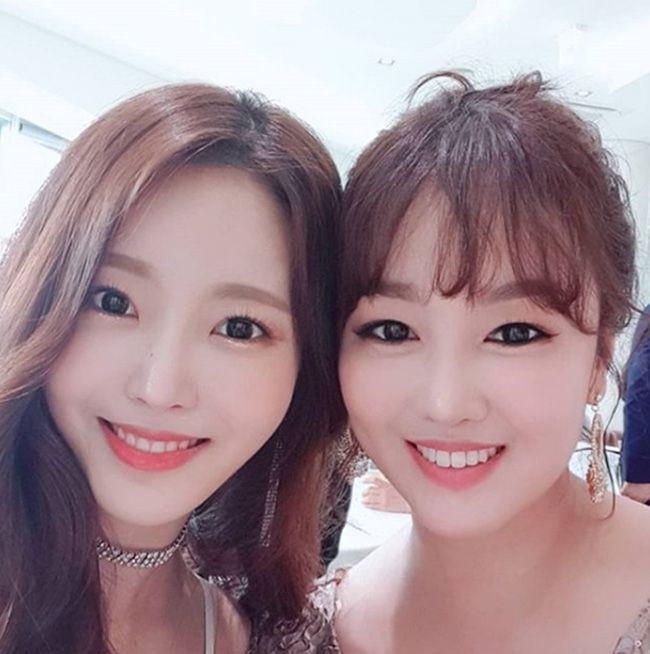 가수 정미애와 박성연 / 사진=정미애 인스타그램 캡처