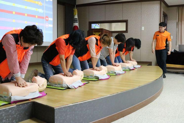 광주 서부소방서, 심폐소생술 전문 의용소방대원 교육