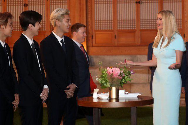 엑소와 이방카 백악관 보좌관 / 사진 = 연합뉴스