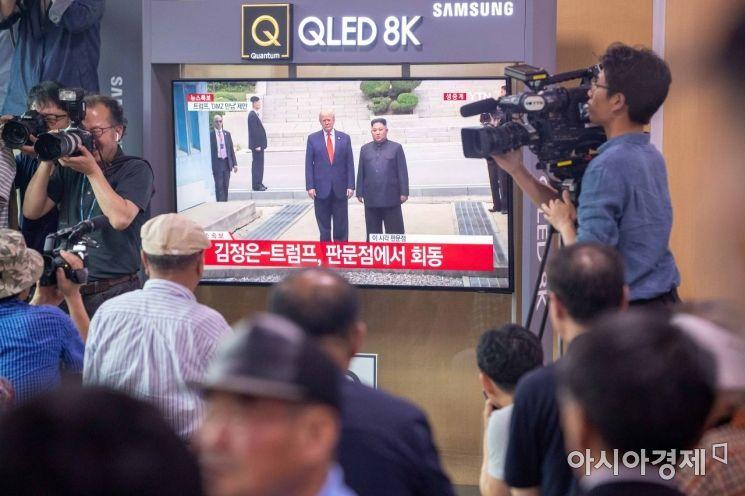 [포토]김정은 위원장-트럼프 대통령 판문점 회동