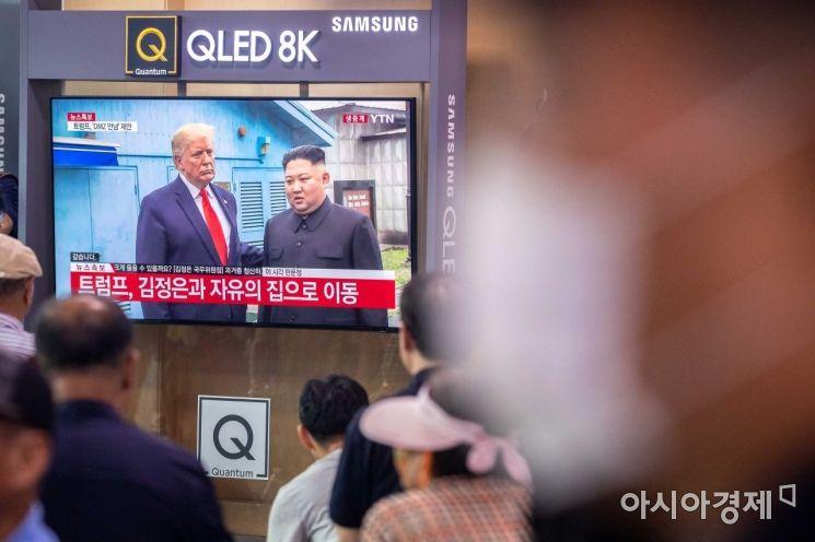 [포토]김정은 위원장-트럼프 대통령 회동