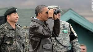 2012년 오울렛 초소를 방문했던 버락 오바마 대통령