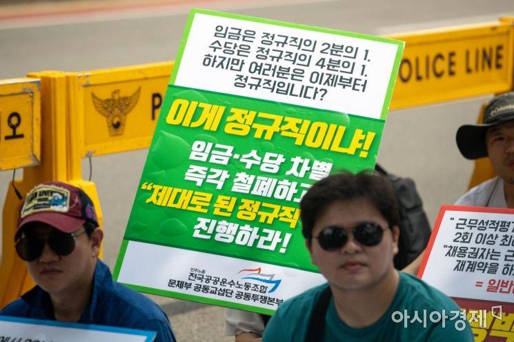 [포토]'임금-수당 차별 철폐하라!'