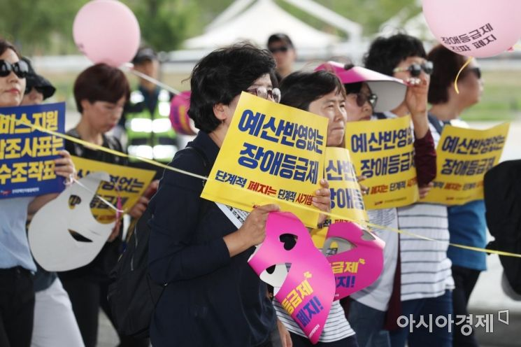 [포토]장애등급제 진짜 폐지 촉구하며 행진