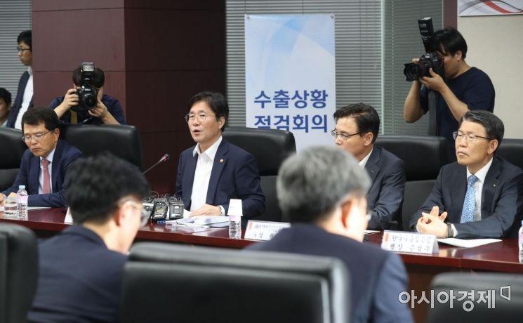 [포토]수출상황점검회의 주재하는 성윤모 장관