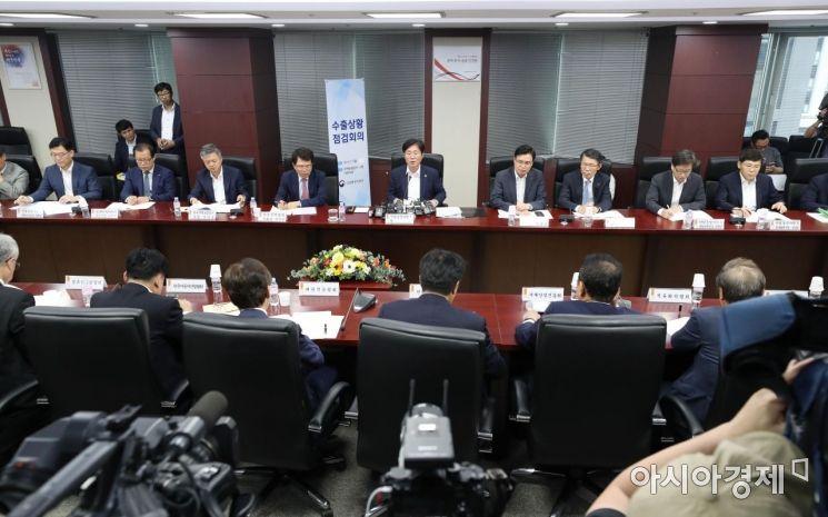 [포토]성윤모 산업부 장관 주재 수출상황점검회의