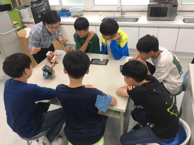 조선대 SW융합교육원, 로봇코딩교실 진행