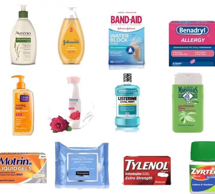 존슨앤존슨사의 대표적인 제품들. [사진=유튜브 화면캡처]