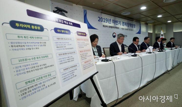 [포토] 2019 하반기 경제정책 정부부처 합동 브리핑