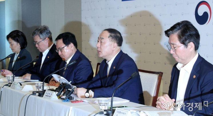 [포토] 경제정책방향 발표하는 홍남기 부총리