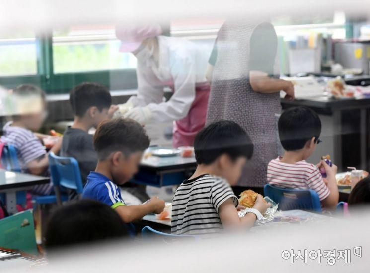[포토] 대체급식 배식된 교실