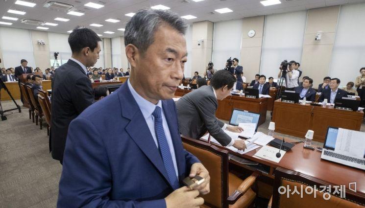 [포토] '북한 목선 현안보고중...'