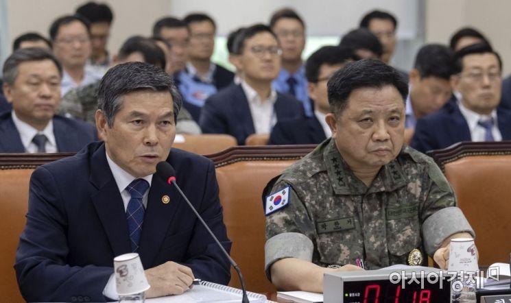 [포토] 답변하는 정경두 국방부 장관