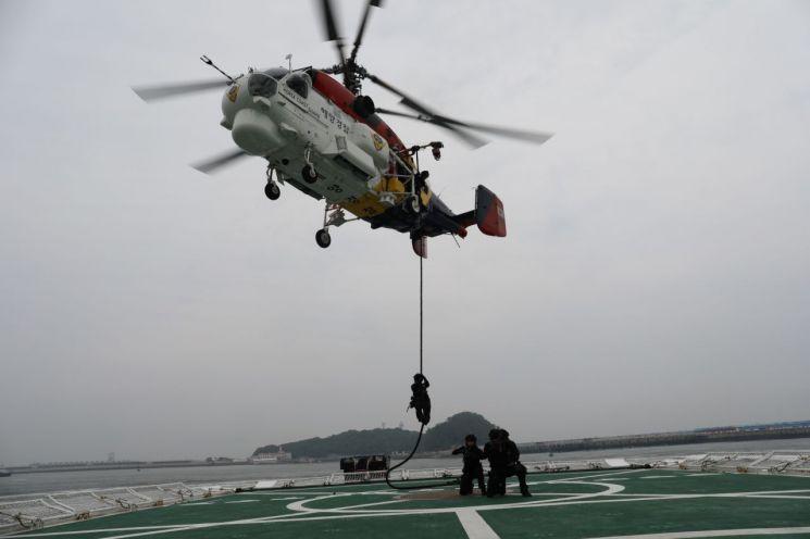서해해경청, 광주세계수영대회 대비 해양 대테러 훈련