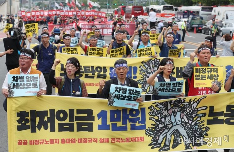 [포토]청와대 행진