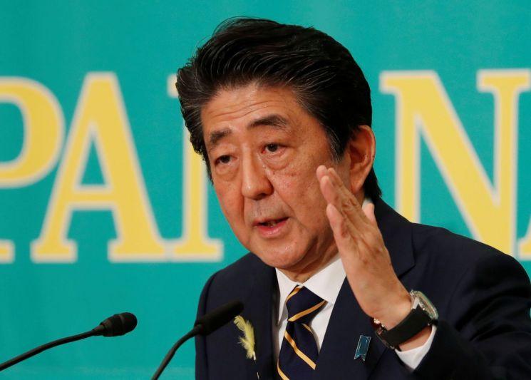 자민당 총재인 아베 신조 총리가 오는 21일 일본 참의원 선거를 앞두고 지난 3일 도쿄 일본기자클럽에서 열린 여야 당대표 토론회에 참석해 발언하고 있다. (사진=연합뉴스)